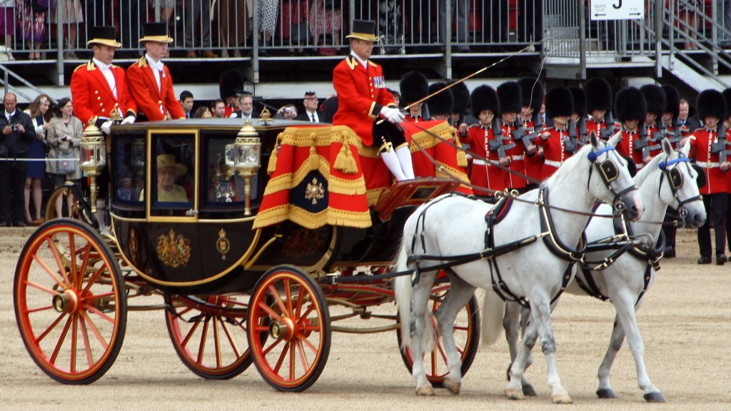 HM The Queen leaves the parade