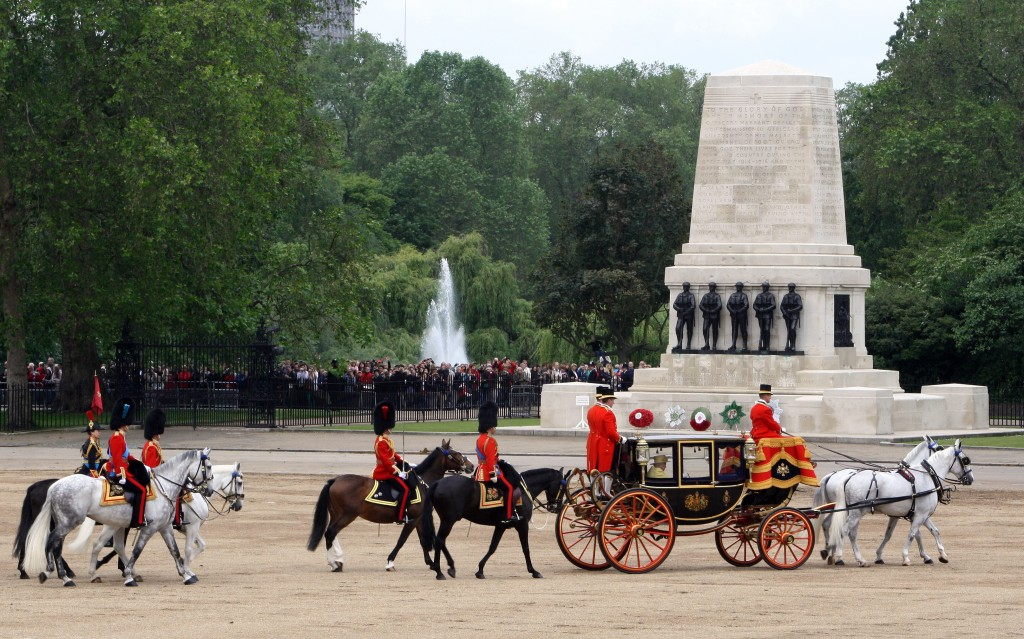 The Royal party depart Horseguards