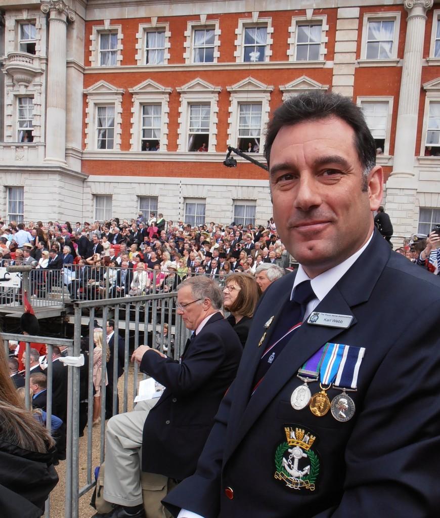 Shipmate Karl Webb at Horseguards Parade