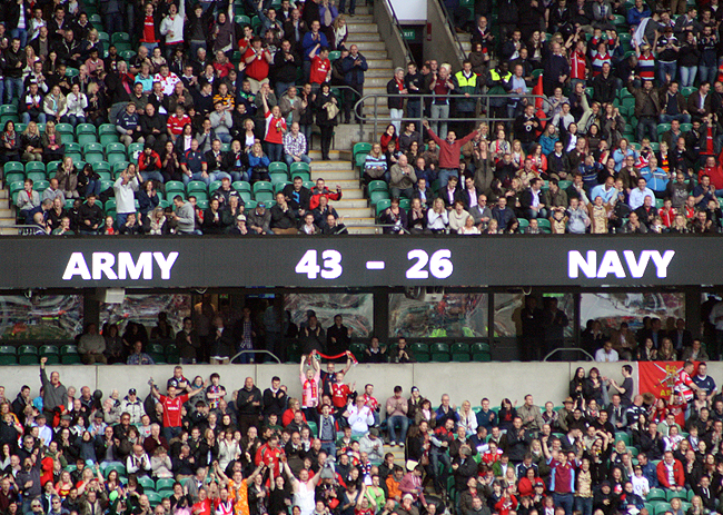 Well done Army, we played Navy, good game by all