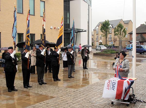 Councillor Boddington addresses all guests