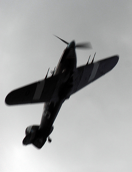 a visit by the Battle of Britain Memorial Flight Hurricane