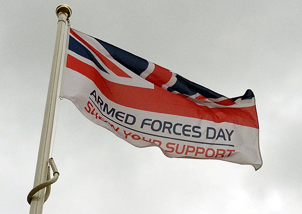 The AFD Flag on display in Huntingdon