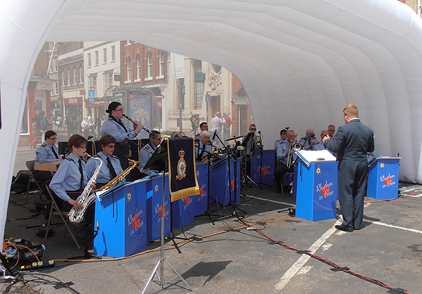 RAF Wyton's band were also in attendance
