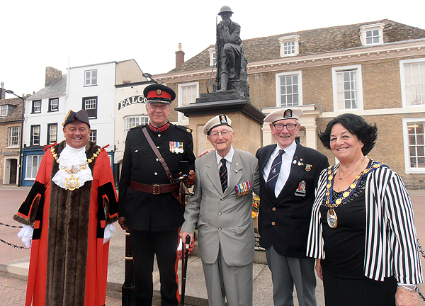 Our Arctic Veterans with the Mayor, Deputy Lord Lieutenant, and Chair of Huntingdon District Council