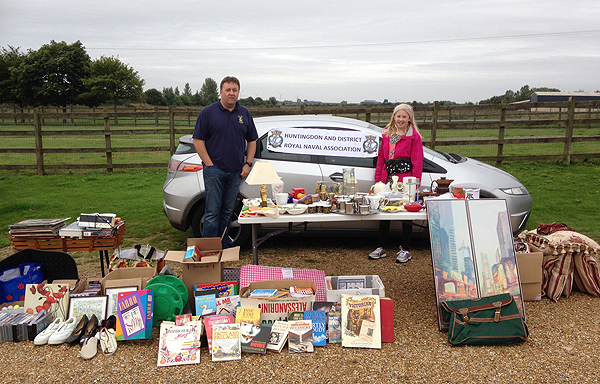 S/M Pete Aston and his daughter Maisie raise a few pounds at Wood Green, Godmanchester