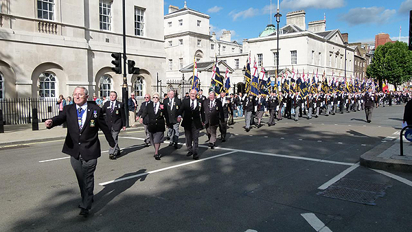 The parade in Whitehall