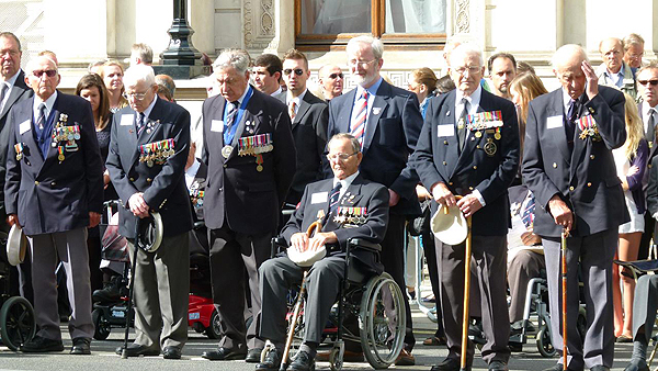 Our veterans take pride of place: Photograph © Nigel Huxtable, RNA HQ