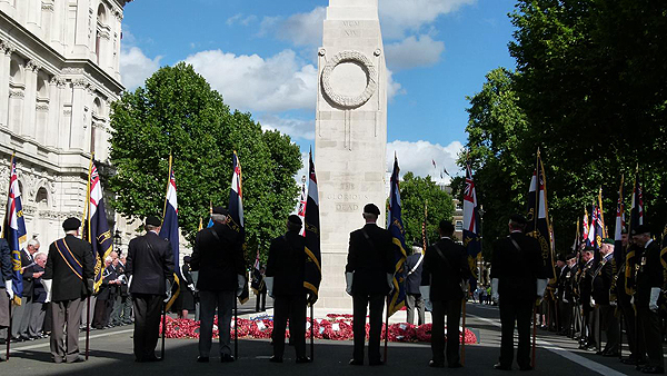 Area Standards at the Cenotaph: Photograph © Nigel Huxtable, RNA HQ