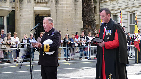 The National President addresses the parade: Photograph © Nigel Huxtable, RNA HQ