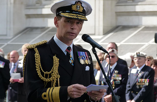 Second Sea Lord, Vice Admiral David Steel, also welcomes all to the Biennial Parade: Photograph © Nigel Huxtable, RNA HQ