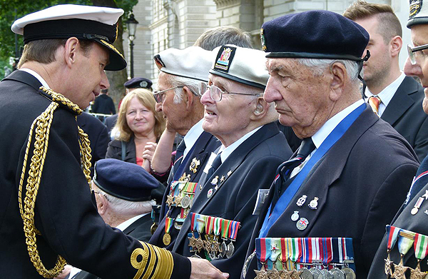 Arctic convoy veterans, full recognition at last: Photograph © Nigel Huxtable, RNA HQ