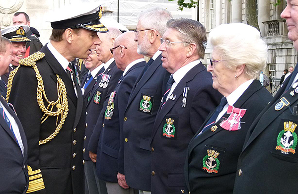 The Second Sea Lord takes time to chat with the National Council: Photograph © Nigel Huxtable, RNA HQ