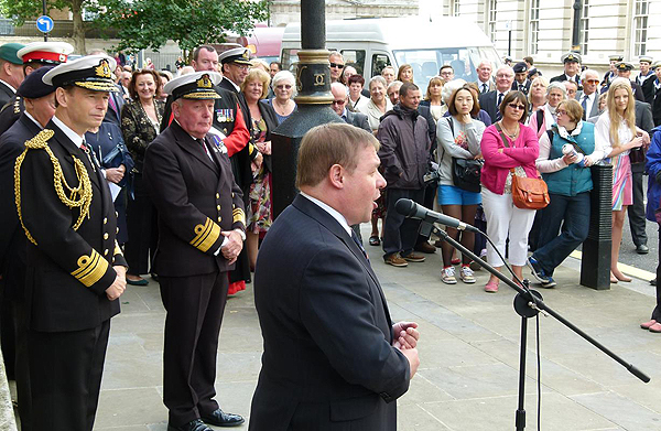 The Rt Hon Mark Francois thanks everyone for taking part in the Parade