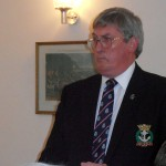 Keith Ridley addresses the Branch