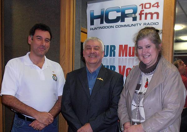 Shipmates Karl Webb and Bill Small with Nicola Rule at HCR