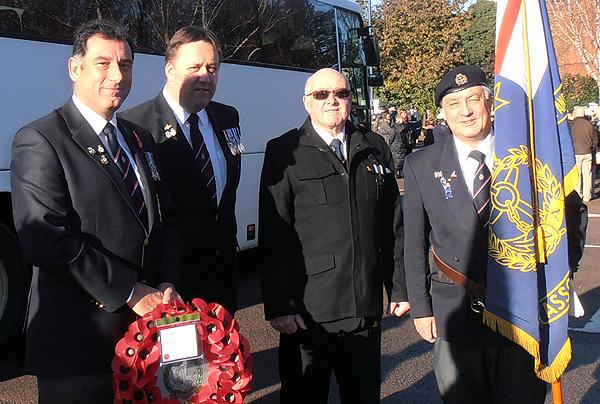Shipmates Karl Webb, Pete Aston, Nino Crean and Bill Small