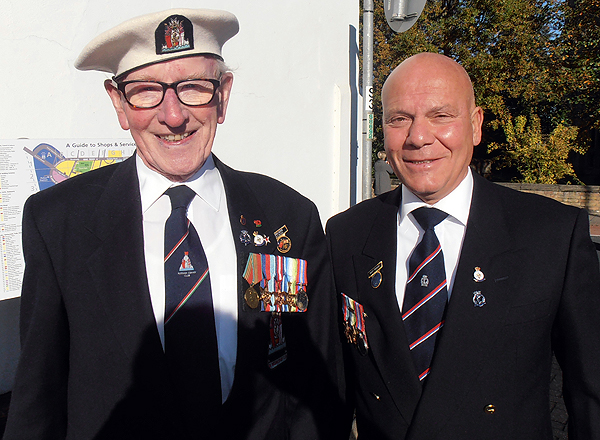 Shipmates Grove Dove and Geoff Twigden