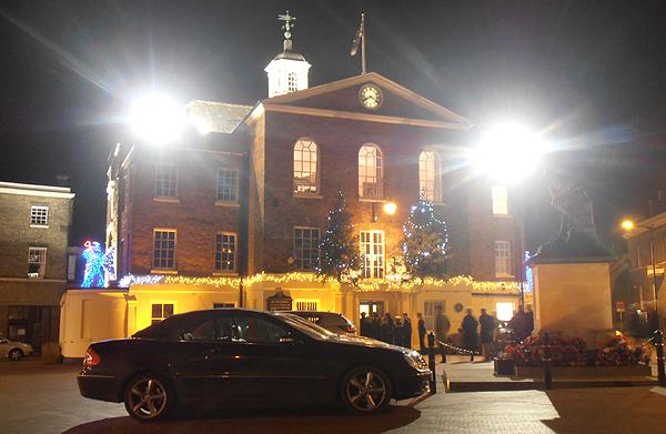 Huntingdon Town Hall, Market Square