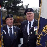 Bill Small and Keith Ridley, RNA Standard Bearers