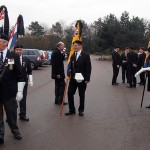 Standard Bearers prepare for the first service
