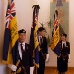 The RBL take up their positions
