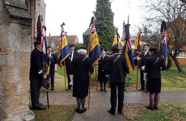 Standard Bearers line the route for Jack's family