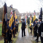 The RBL National Standard is carried to the Archway
