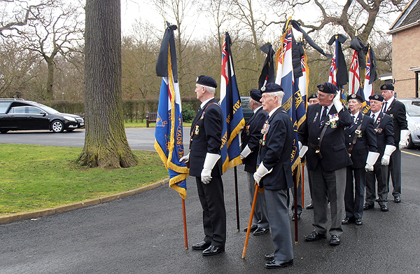 Standard Bearers take their positions