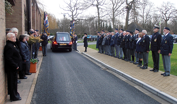 Tom's shipmates pay their respects