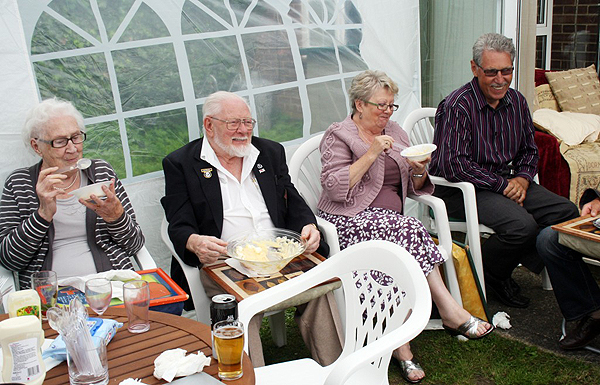 Spike had his own special bowl of trifle at the Huntingdon Branch BBQ, 2012