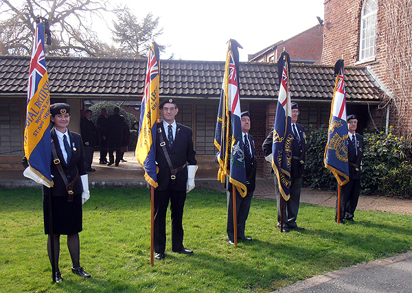 The Royal British Legion and Royal Naval Association Standard Bearers