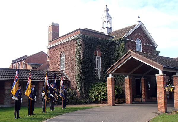 Standard Bearers outside of the East Chapel
