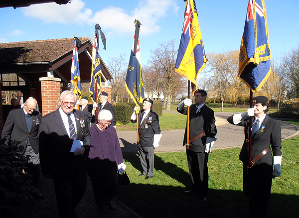 Huntingdon & District Branch members leaving the chapel
