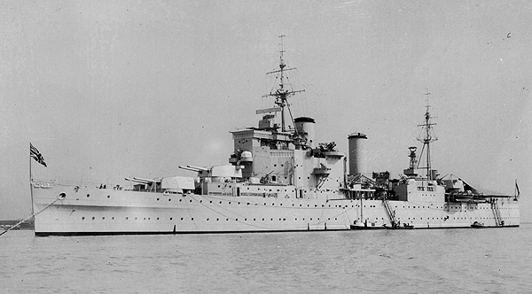 HMS London in 1948 (photograph courtesy of Judy Burdett)