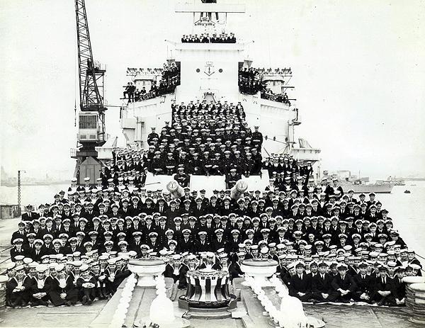 HMS London's ships' Company, 1948 (photograph courtesy of Judy Burdett)
