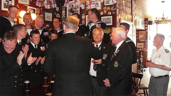 Cardiff RNA and Dragon ship's company gather at the City Arms, Copyright Andrew Clark