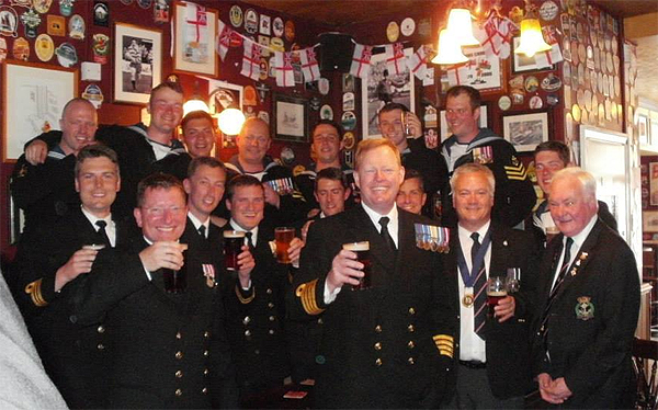 Shipmates past and present at the City Arms, Copyright Andrew Clark