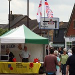 The Royal British Legion with the RNA stall next door