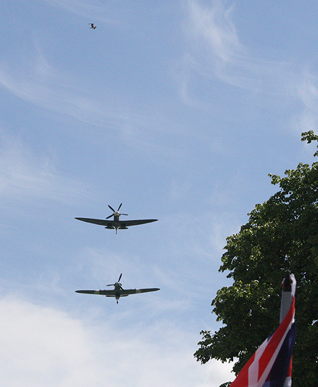 A Spitfire and a Hurricane came to say hello