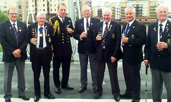 Shipmates from RNA Cardiff with the First Sea Lord