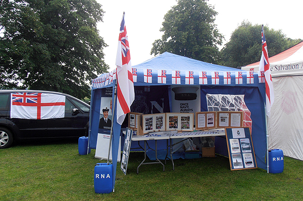 Huntingdon & District's stall, dressed for the Gala