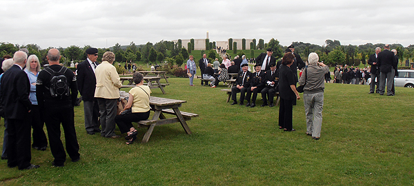 Current and former naval service personnel muster at the Arboretum (Photo: Karl Webb, RNA)