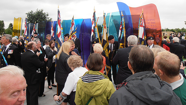 A crowded Naval Service Memorial (Photo: Karl Webb, RNA)