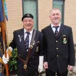 S/Ms Bill Small and Graham Murray await the start of the ceremony