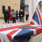 The Armed Forces Day Flag ready for hoisting