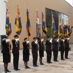 The RNA and RBL Standard Bearers formed up