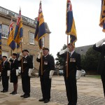The Standard Bearers carry out their drills