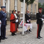 Col Derek Bristow passes on messages from the Lord Lieutenant and HM The Queen