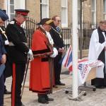 The Revd Andrew Milton Blesses the AFD Flag